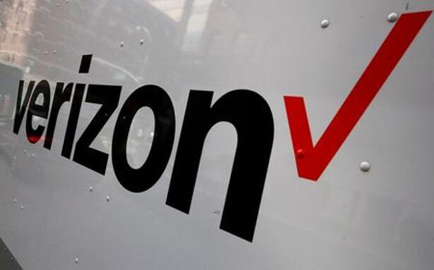 The Verizon logo is seen on the side