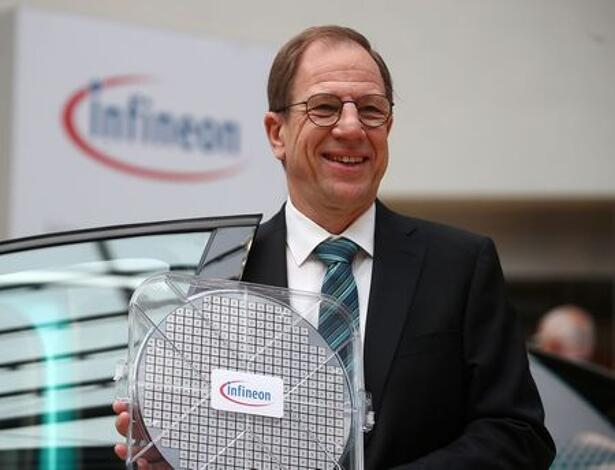 Ploss, CEO of German semiconductor manufacturer Infineon poses