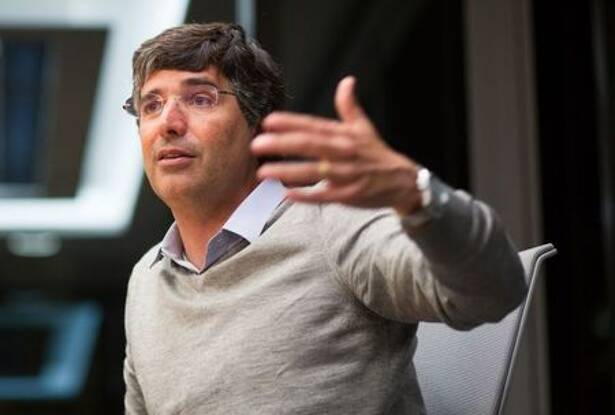 BTG Pactual's billionaire banker Esteves attends a meeting with Reuters