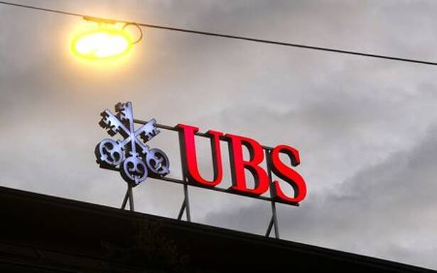 Logo of Swiss bank UBS is seen in Zurich