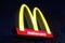 A sign is seen at a McDonald's restaurant