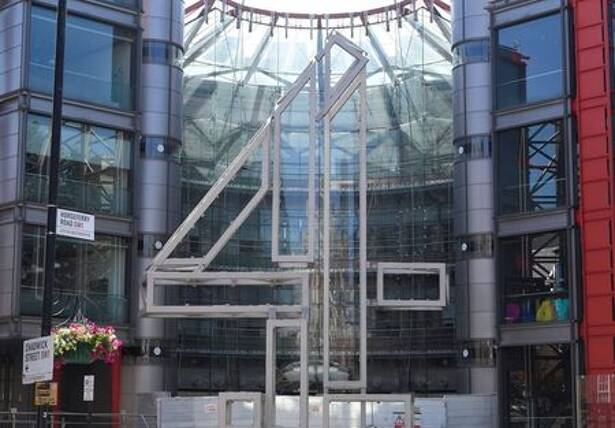 Channel 4 television channel offices seen in London