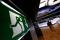 FILE PHOTO: An exit sign is pictured at the Frankfurt stock exchange