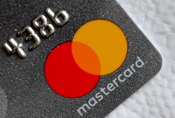 FILE PHOTO: Illustration photo of a Mastercard logo on a