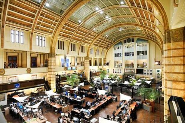Overview of Amsterdam's stock exchange interior as Prosus