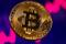 A representation of virtual currency Bitcoin is seen in front