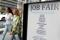 Signage for a job fair is seen on 5th Avenue after the release of the jobs report in Manhattan, New York City