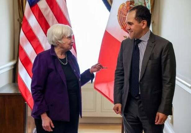 Secretary of the Treasury Janet Yellen meets Mexican Finance Minister Arturo Herrera Gutierrez at the U.S. Department of the Treasury in Washington