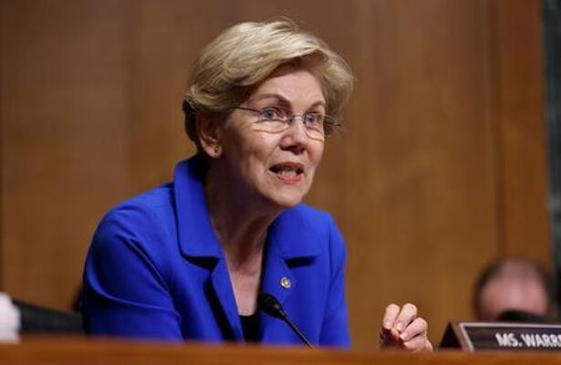 米、暗号資産の問題に「正面から」対処を=ウォーレン上院議員