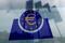Logotipo do Banco Central Europeu (BCE) em Frankfurt, Alemanha