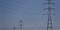 Torres de energia em Carregado, Portugal.