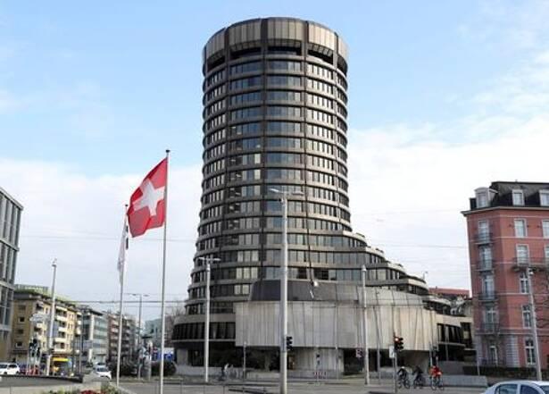 Torre do edifício sede do Banco de Compensações Internacionais (BIS)