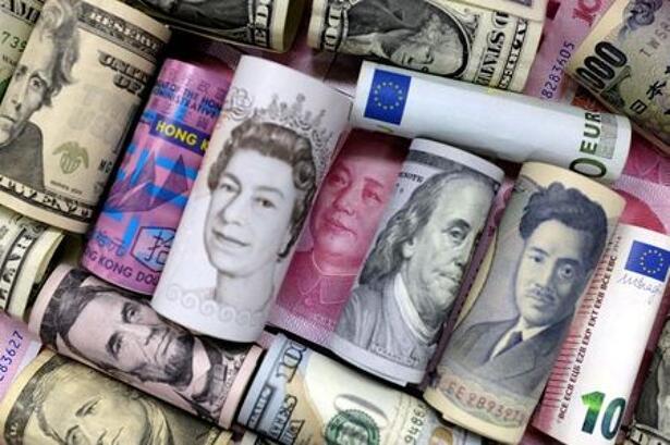FILE PHOTO: Euro, Hong Kong dollar, U.S. dollar, Japanese yen,