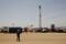 FILE PHOTO: Worker walks at a Tullow Oil explorational drilling