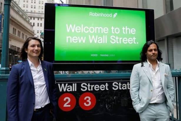 Robinhood Markets Inc's IPO in New York City