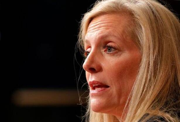 Federal Reserve Board Governor Lael Brainard speaks at the John