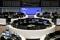 FOTO DE ARCHIVO: El gráfico del índice de valores alemán DAX en el interior de la Bolsa de Fráncfort