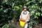 Foto de archivo. Un caficultor colombiano descansa después de recoger los granos de café en una finca cerca de Monserrate, en el departamento del Huila