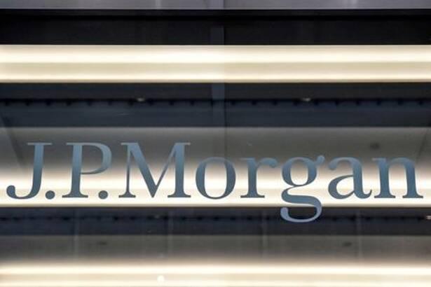 FILE PHOTO: A JPMorgan logo is seen in New York City