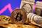 Foto ilustrativa de la representación de un bitcoin