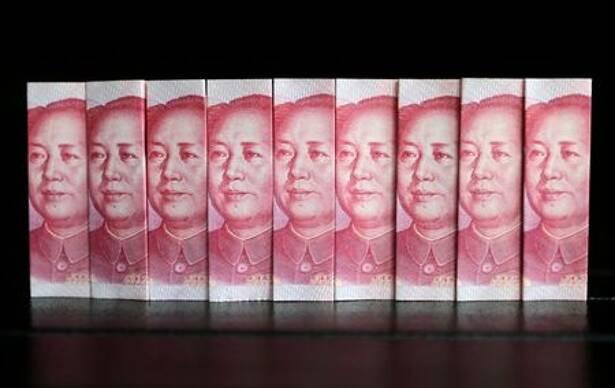 Ilustración de billetes de 100 yuanes, Pekín