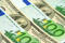 hundred euro and dollar banknotes