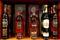 Flaschen mit Single Malt Whisky der schottischen Destillerie Glenfiddich