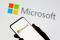 Das Microsoft-Logo, das in dieser Illustration abgebildet ist, 26.