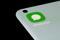 WhatsApp-Icon auf dem Bildschirm eines Smartphones, 13. Juli 2021.