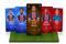 Digitale Sammelkarten mit Fußballspielern in einer Illustration des Online-Fantasy-Fußballspiels Sorare,