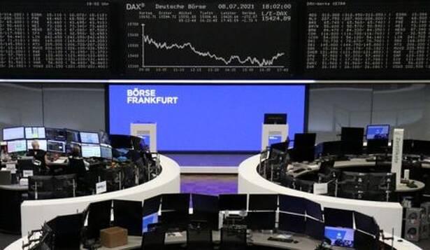Kurve des Deutschen Aktienindex DAX an der Deutschen Börse