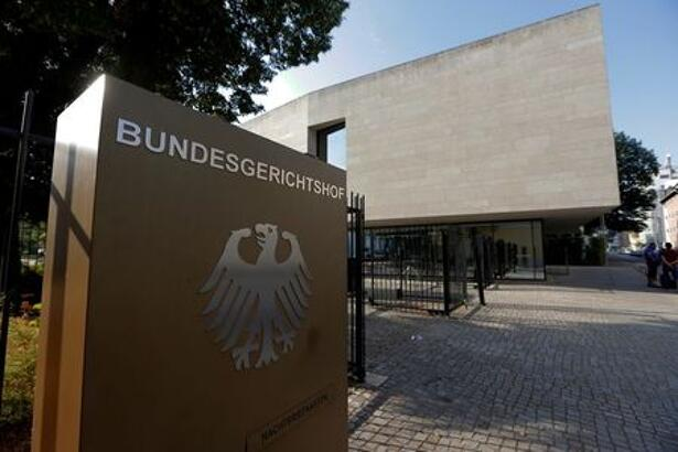 The sign of the German Federal Supreme Court Bundesgerichtshof is