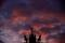 Die Sonne geht unter hinter der Quadriga des Brandenburger