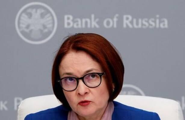 Elvira Nabiullina, Gouverneurin der russischen Zentralbank, spricht während einer