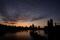 Die Skyline der City of London vor Sonnenaufgang, London,