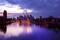 Der Himmel über dem Frankfurter Finanzdistrikt, Frankfurt, Deutschland, 18. April,