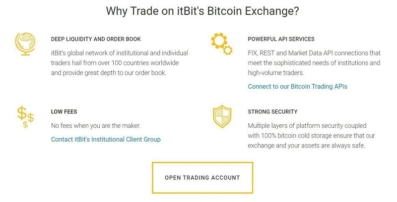 itBit Review 2019 - Accepted Countries, Payment Methods